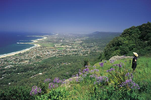 Views over Wollongong: a great place to visit in New South Wales.  Image © Hamilton Lund; Destination NSW. This photo sponsored by Osteopaths Category.