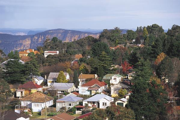 Katoomba, Blue Mountains: a great place to visit in New South Wales.  Image &copy Destination NSW. This photo sponsored by Plastering Contractors Category.