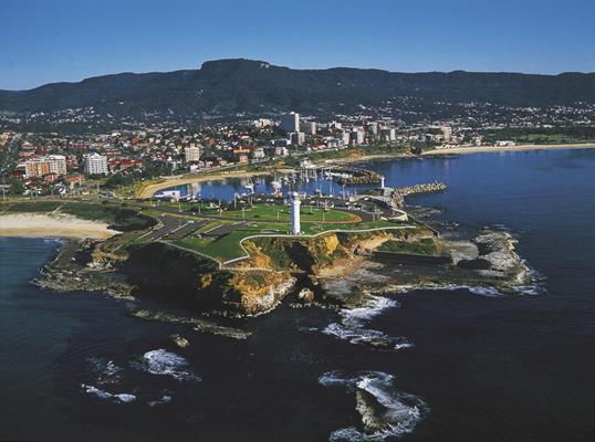 Illawarra aerial: a great place to visit in New South Wales.  Image &copy Destination NSW. This photo sponsored by Plumbers &-or Gasfitters Category.
