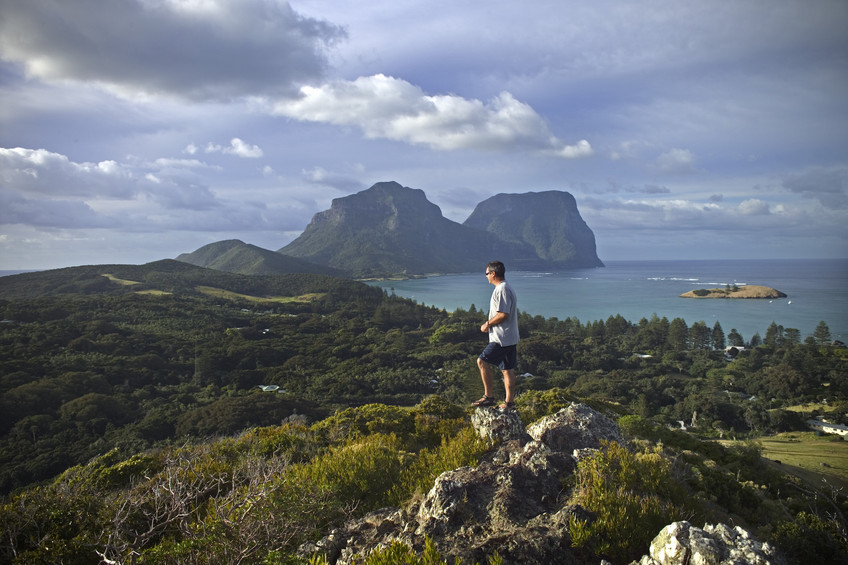 View from Malabar Hill -Lord Howe Island: a great place to visit in New South Wales.  Image &copy Destination NSW; Sally Mayman. This photo sponsored by Drafting Services Category.
