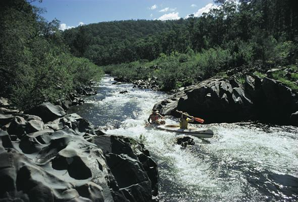 Kayak, Barrington Tops NP: a great place to visit in New South Wales.  Image © Destination NSW. This photo sponsored by Finance - Brokers Category.
