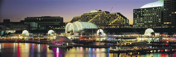 Darling Harbour: a great place to visit in New South Wales.  Image © Hamilton Lund; Destination NSW. This photo sponsored by Gazebos; Shade & Glass Houses Category.