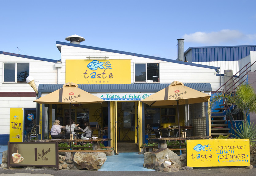 Taste of Eden cafe: a great place to visit in New South Wales.  Image © Destination NSW. This photo sponsored by Electric Cable Systems Category.