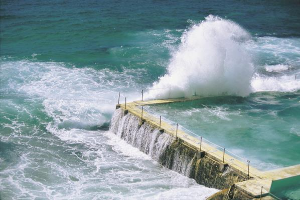 Ocean Baths - Bondi: a great place to visit in New South Wales.  Image © Hamilton Lund; Destination NSW. This photo sponsored by Guttering &-or Spouting Category.
