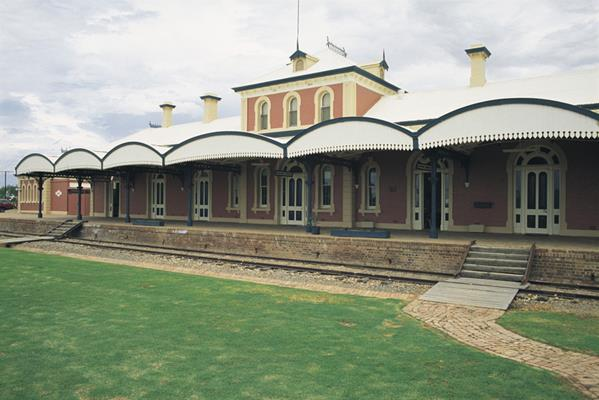 Railway station, Hay: a great place to visit in New South Wales.  Image © Unknown Photographer; Destination NSW. This photo sponsored by Builders Category.